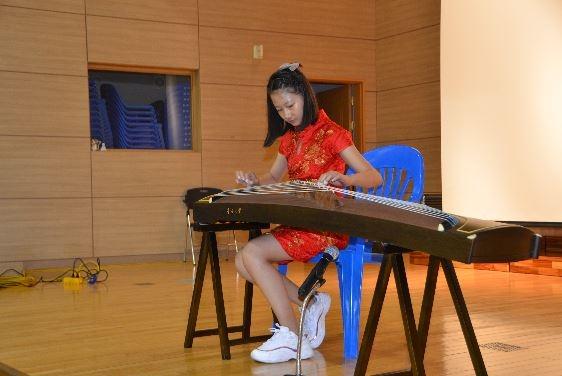 [한중 청소년 문화페스티벌] 중국 청소년 송이한, 중국 전통악기 고쟁 연주