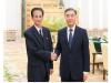 왕양 中정협 주석 ,김완수 北조국통일민주주의전선 의장 회동