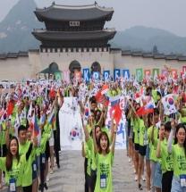 재외동포 대학생들,  임시정부 수립 100주년 기념 퍼포먼스